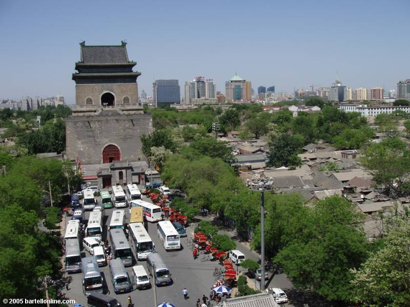 View of the Bell Tower in Beijing, China