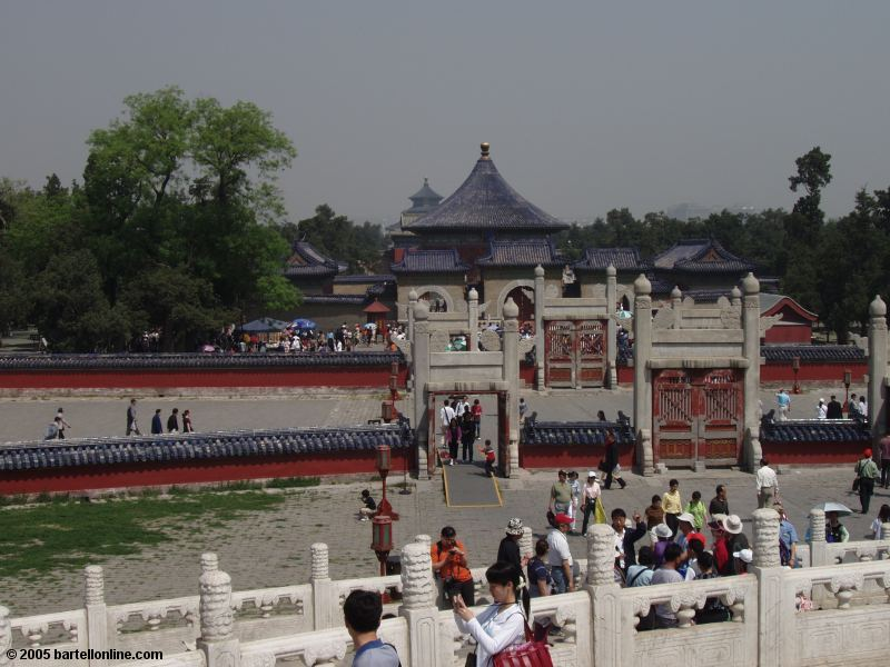 View from atop the Circular Mound at the Temple of Heaven in Beijing, China
