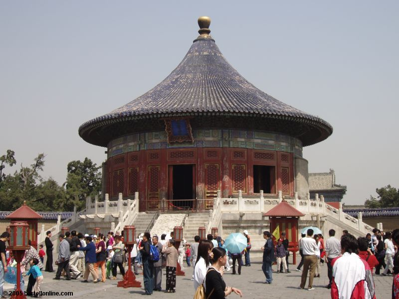 Imperial Vault of Heaven at the Temple of Heaven in Beijing, China