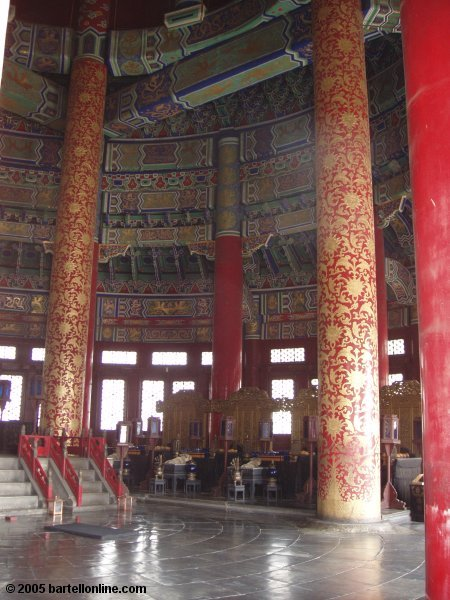Interior of the Imperial Vault of Heaven at the Temple of Heaven in Beijing, China