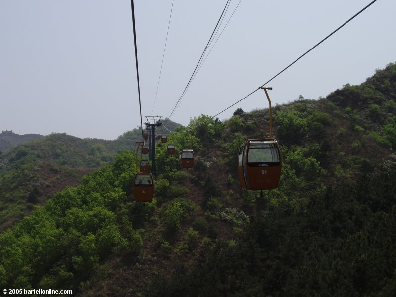 Cable car at the Jinshanling section of the Great Wall of China