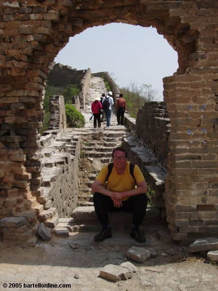 Me resting along the Great Wall of China