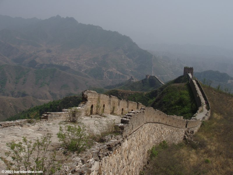 Great Wall of China snaking out into the horizon