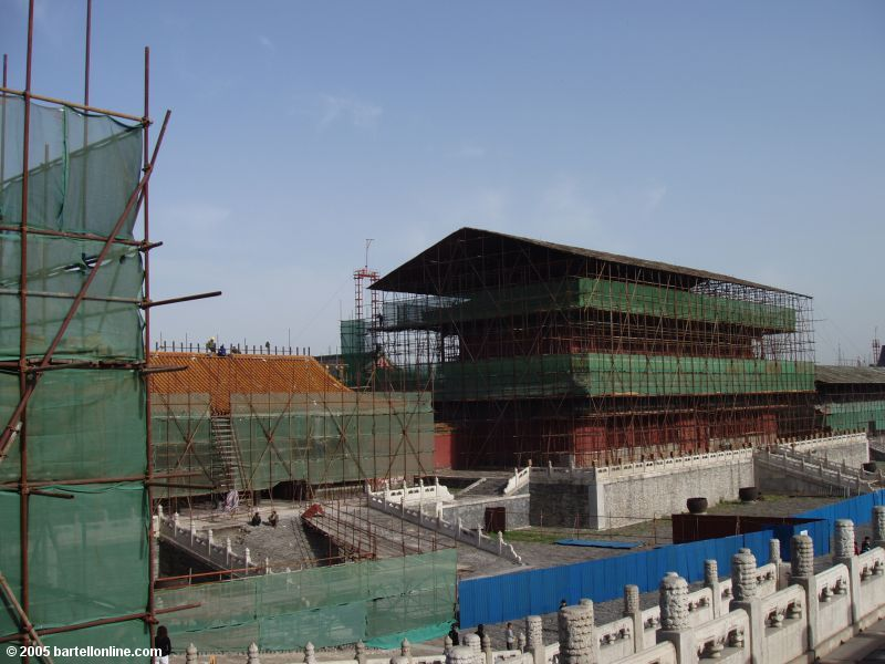 Renovation underway inside Beijing's Palace Museum (Forbidden City)