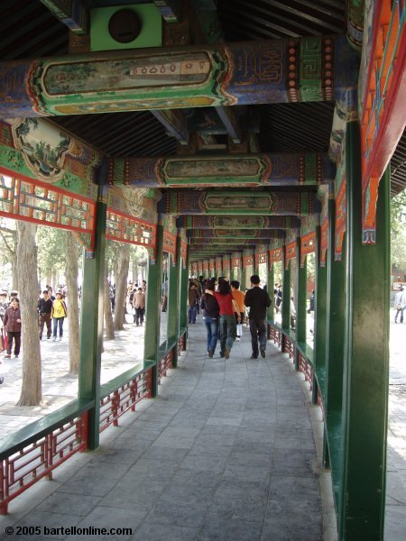 Section of the Long Corridor at the Summer Palace in Beijing, China