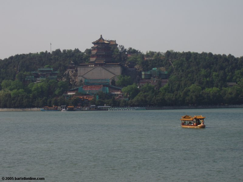 View across Kunming Lake to Longevity Hill in Beijing's Summer Palace