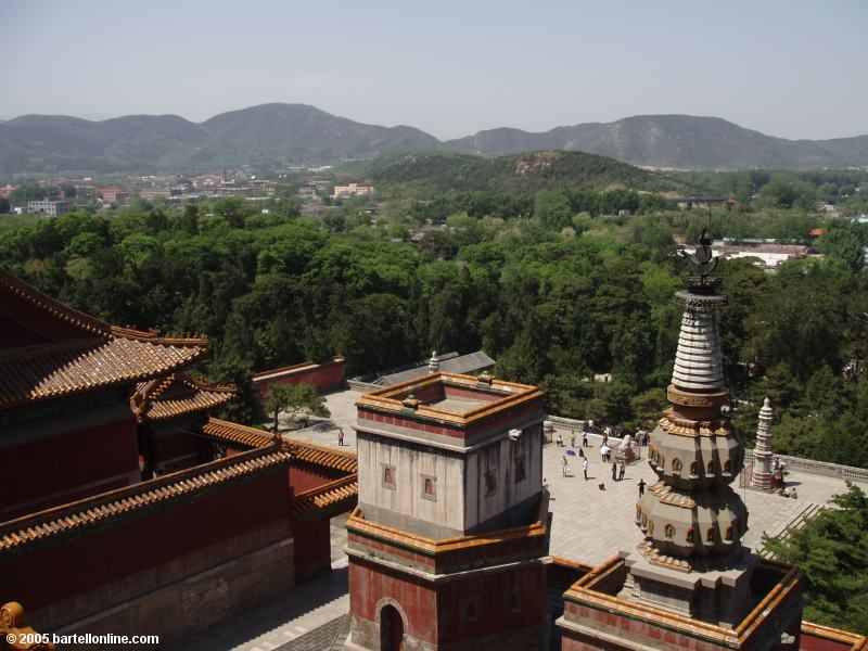 View from above Longevity Hill temples at the Summer Palace in Beijing, China