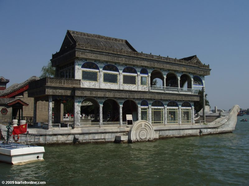 Marble Boat in the Summer Palace in Beijing, China