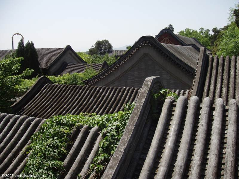 View of roofs at the Summer Palace in Beijing, China