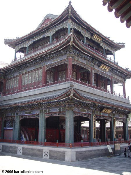 A stage building at the Summer Palace in Beijing, China