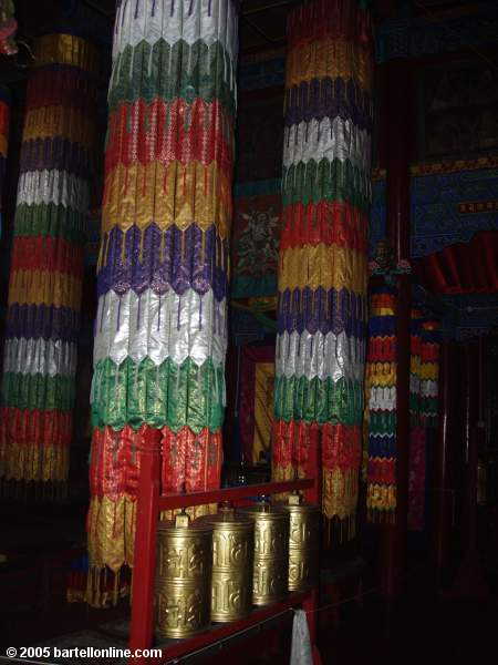 Interior of a building at Dazhao Temple in Hohhot, Inner Mongolia, China