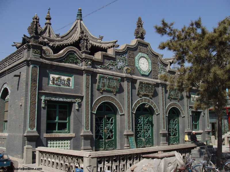 Building at the Great Mosque in Hohhot, Inner Mongolia, China