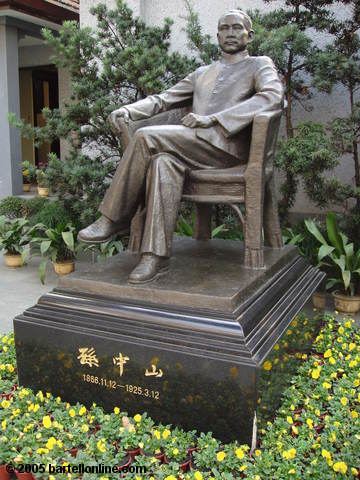 Statue of Dr. Sun Yat-Sen at his former residence in Shanghai, China