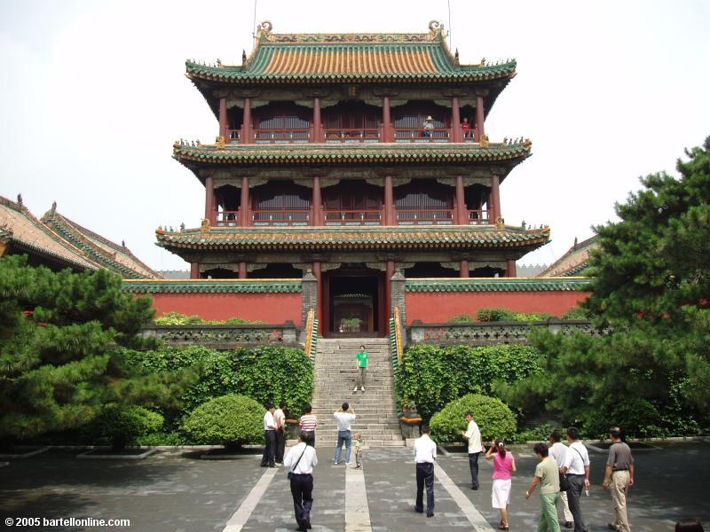 Building in the Qing Imperial Palace in Shenyang, Liaoning, China