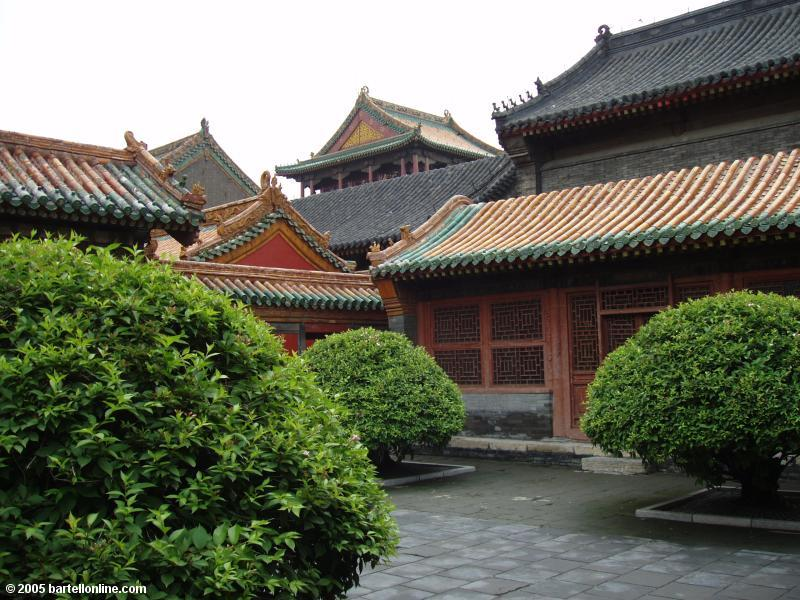 Buildings in the Qing Imperial Palace in Shenyang, Liaoning, China