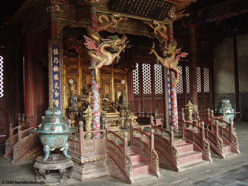 Interior of a building in the Qing Imperial Palace in Shenyang, Liaoning, China