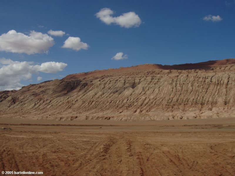 The Flaming Mountains near Turpan, Xinjiang, China
