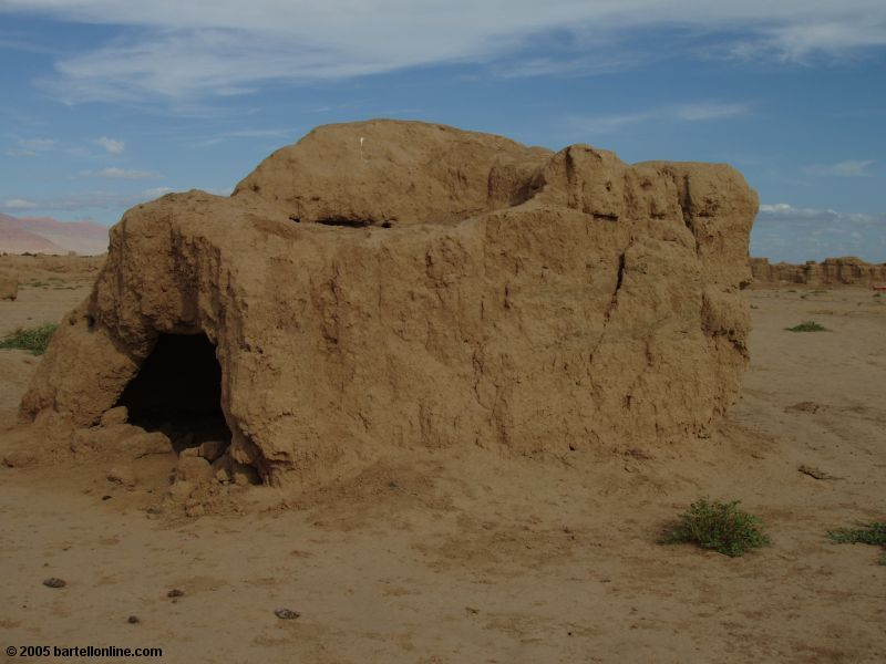 Igloo-like stone shelter at Gaochang Ruins near Turpan, Xinjiang, China