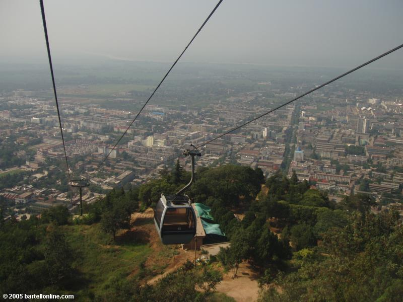 Cable car up Mt. Lishan near Xi'an, Shaanxi, China