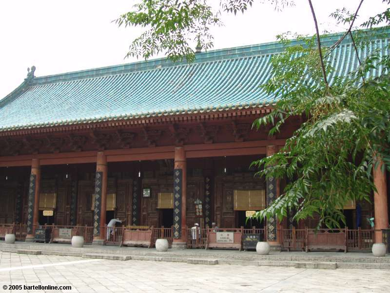 Exterior of prayer hall at the Great Mosque in Xi'an, Shaanxi, China