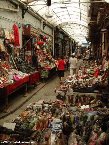 Souvenir shops along the way to the Great Mosque in Xi'an, Shaanxi, China