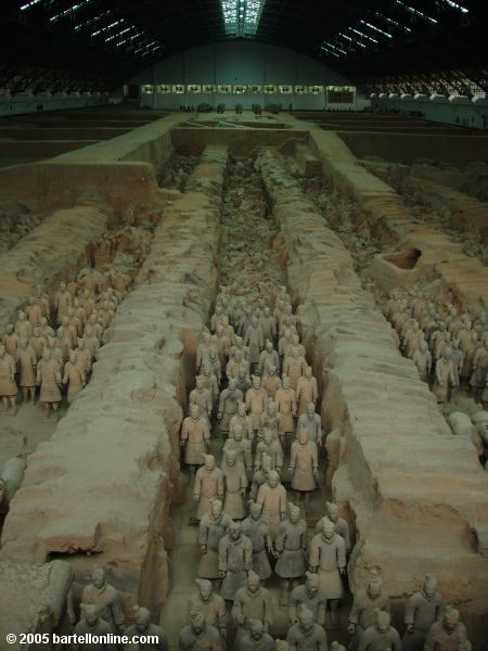 Pit 1 at the Terracotta Warriors site near Xi'an, Shaanxi, China