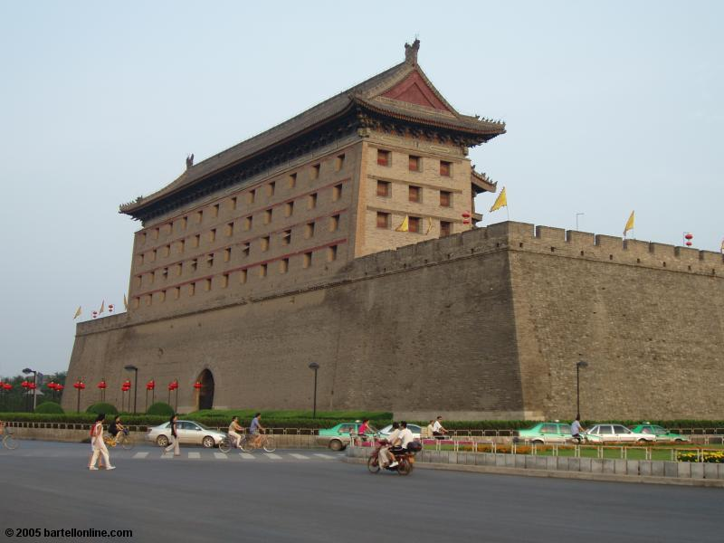 North gate of the city wall around Xi'an, Shaanxi, China