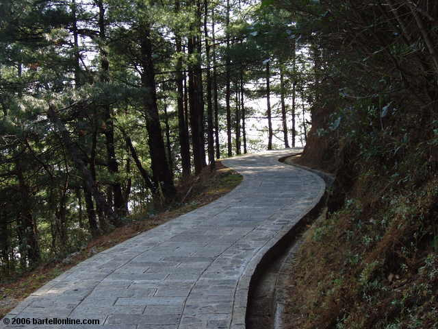 "A section of the ""Cloudy Tourist Road"" walking path in the Cangshan mountains above Dali, Yunnan, China"