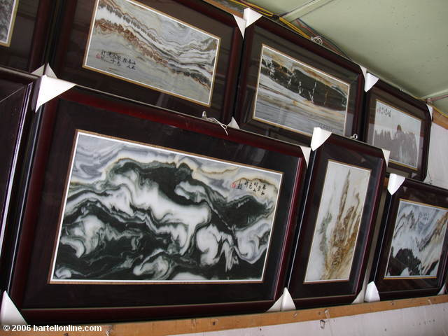 "Marble ""paintings"" for sale at a shop in Dali, Yunnan, China"