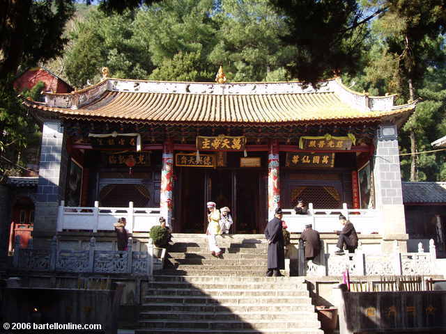 A building at the Zhonghe Temple in the Cangshan mountains above Dali, Yunnan, China