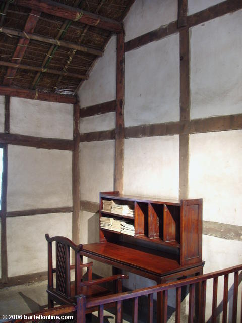 Interior of the replica of Du Fu's Thatched Cottage in Chengdu, Sichuan, China