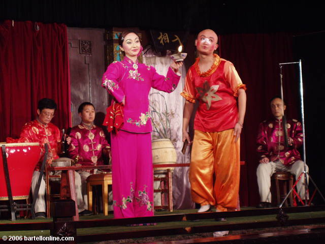 Comedy skit performed during a Sichuan Opera in Chengdu, China