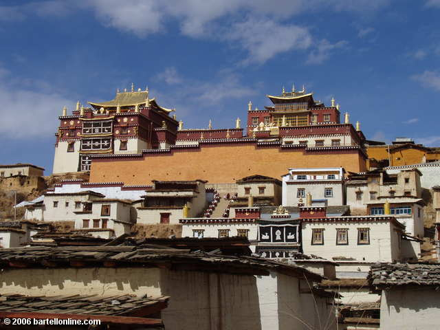 "View of the Songzanlin Tibetan Buddhist monastery near Zhongdian (""Shangri-La""), Yunnan, China"